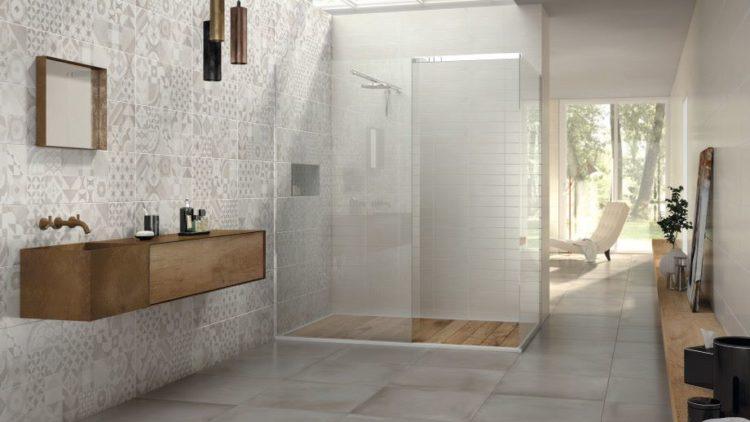 Doccia walk in in cristallo con piatto bobox c by relax design